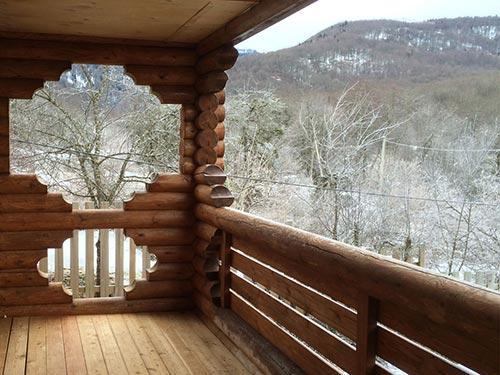 Большая спальня - вид с балкона